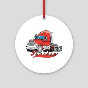 Truckin' Ornament (Round)