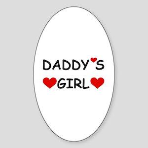 DADDY'S GIRL Oval Sticker