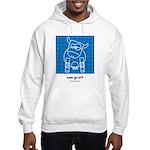 moo print Hooded Sweatshirt