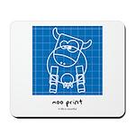 moo print Mousepad