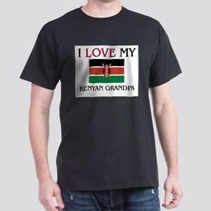 I Love My Kenyan Grandpa Dark T-Shirt