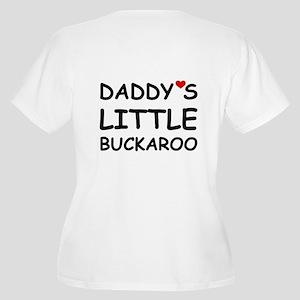 DADDY'S LITTLE BUCKAROO Women's Plus Size V-Neck T