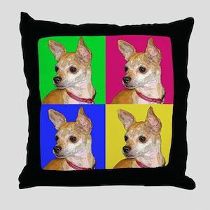 Pop Chihuahua Throw Pillow