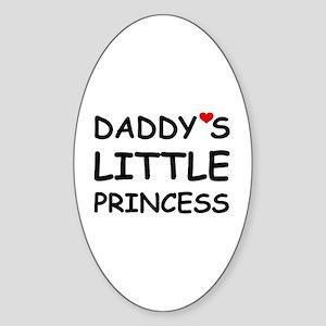 DADDY'S LITTLE PRINCESS Oval Sticker