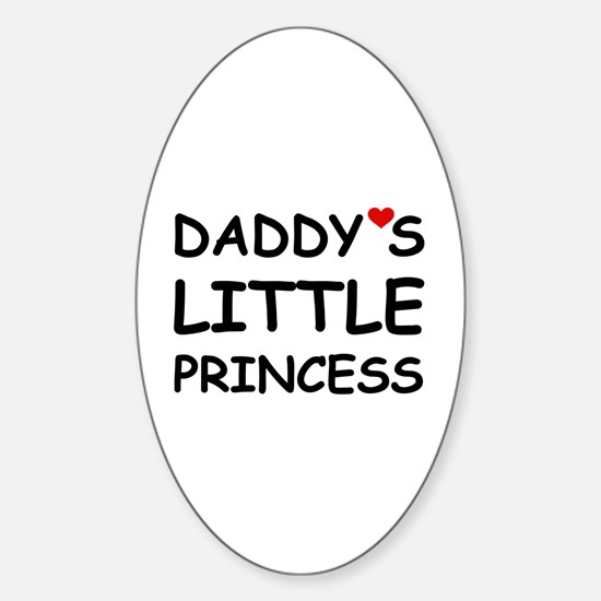 DADDY'S LITTLE PRINCESS Oval Decal