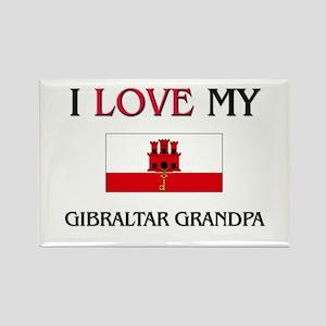 I Love My Gibraltar Grandpa Rectangle Magnet