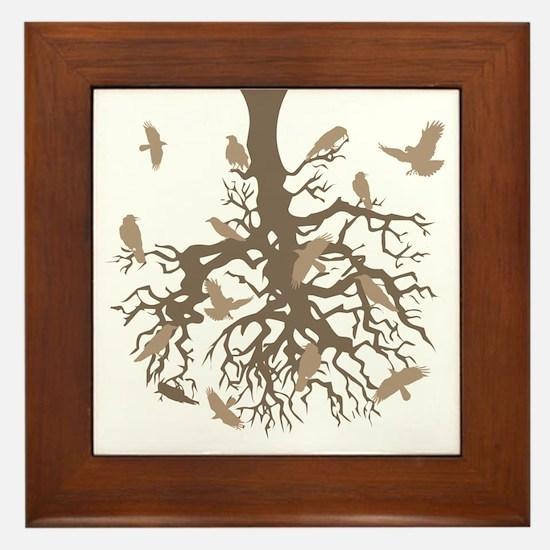 Tree Ravens Framed Tile