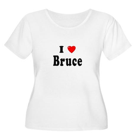 BRUCE Womens Plus-Size Scoop Neck T