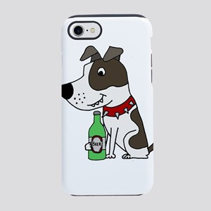 Pitbull Drinking Beer iPhone 8/7 Tough Case