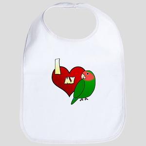 Love Peachfaced Lovebird Bib