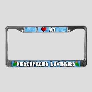 Love Peachfaced Lovebird License Plate Frame Crtn