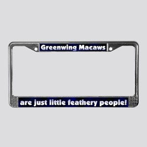 Feathery Ppl Greenwing Macaw License Plate Frame