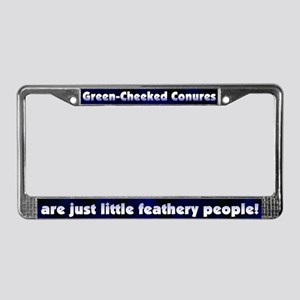 Feathery Ppl Greencheek Conure License Plate Frame