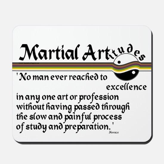 Martial Artitude Horace Mousepad