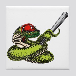 Baseball Snake Tile Coaster