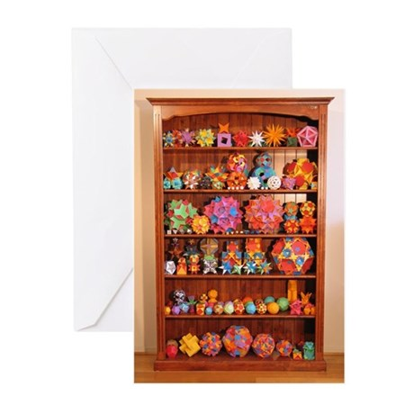 Polyhedron Bookcase Greeting Cards (pack Of 20)