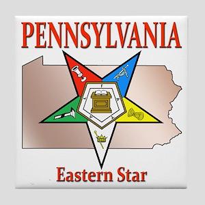 Pennsylvania Eastern Star Tile Coaster
