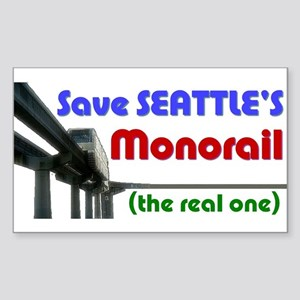 Save Seattle's Monorail Rectangle Sticker