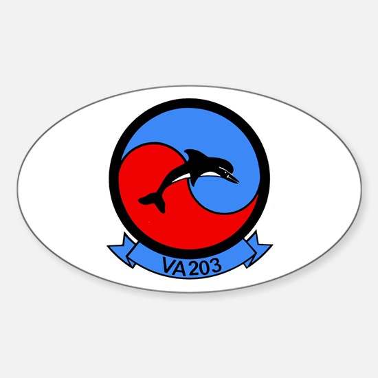 VFA 203 Blue Dolphins Oval Decal