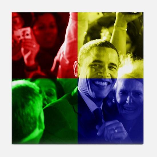 Obama Biden Love Tile Coaster