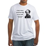 Charles Dickens 15 Fitted T-Shirt