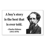 Charles Dickens 15 Rectangle Sticker