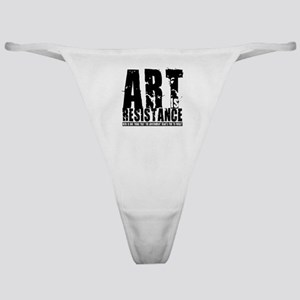 Art is Resistance Classic Thong