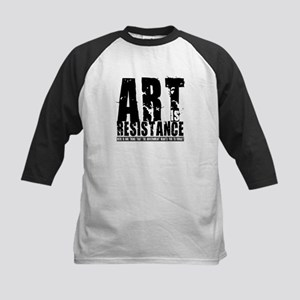 Art is Resistance Kids Baseball Jersey