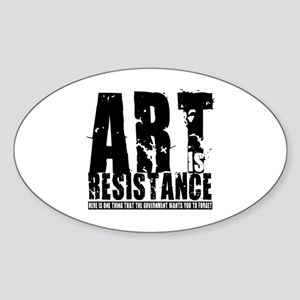Art is Resistance Oval Sticker