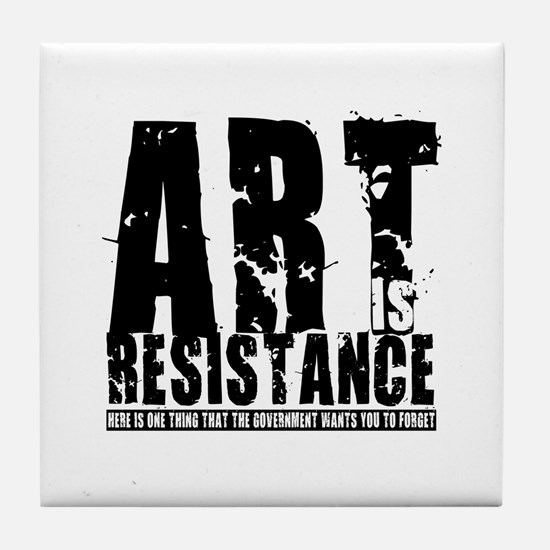 Art is Resistance Tile Coaster
