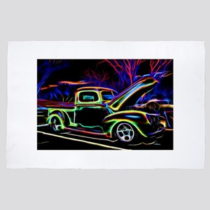 1940 Ford Pick up Truck Neon 4' x 6' Rug