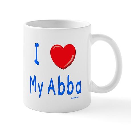I Love Abba Jewish Kids Mug