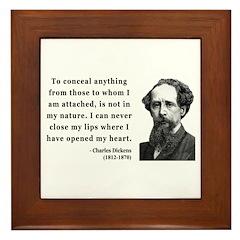 Charles Dickens 12 Framed Tile