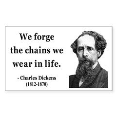 Charles Dickens 11 Rectangle Decal
