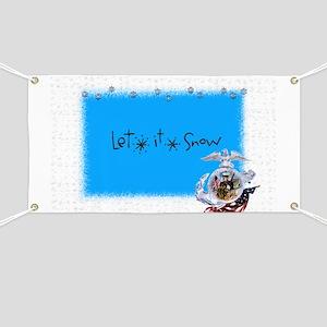 let it snow marine Banner