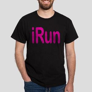 iRun pink Women's Dark T-Shirt