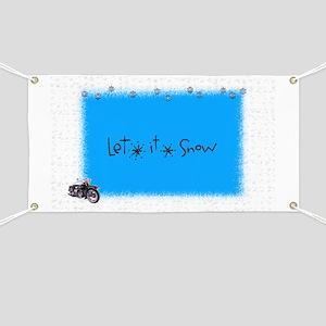 let it snow motter Banner