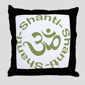 Om Shanti Shanti Shanti Throw Pillow
