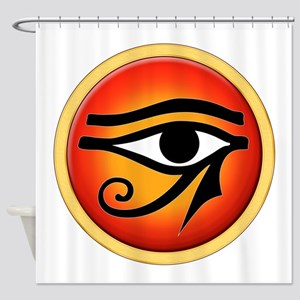 Eye Of Ra On Sun Disk Shower Curtain