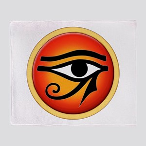 Eye Of Ra On Sun Disk Throw Blanket