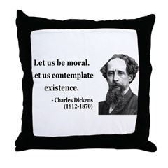 Charles Dickens 5 Throw Pillow