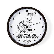 My Way Garfield Wall Clock