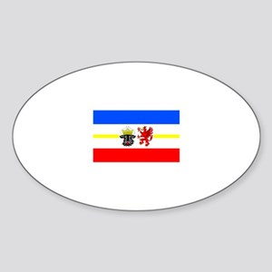 Germany Mecklenburg-Western P Oval Sticker