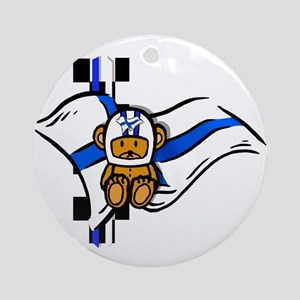 Finland Racing Round Ornament