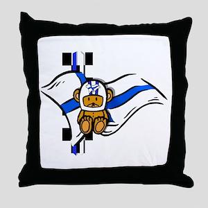 Finland Racing Throw Pillow