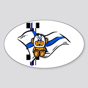 Finland Racing Sticker (Oval)