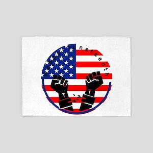 happy juneteenth american flag 5'x7'Area Rug