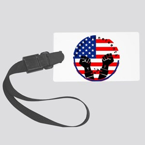 happy juneteenth american flag Large Luggage Tag