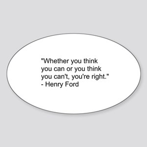 Henry Ford Quote Sticker