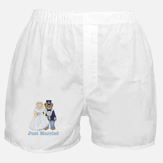 Just Married - Bride and Groom Boxer Shorts